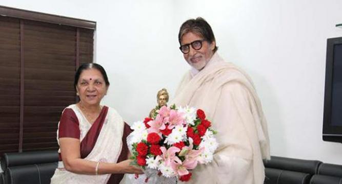 Amitabh Bachchan Meets Gujarat Cm Anandi Patel - News Nation-2848