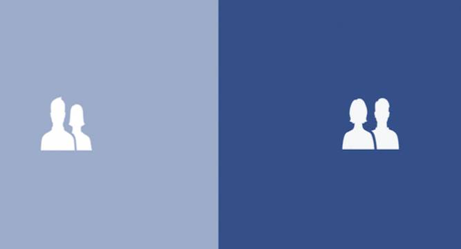 4b12b80b797c62 Facebook now raises the debate of gender equality with its iconic logos- two  small silhouettes of a man and a woman.