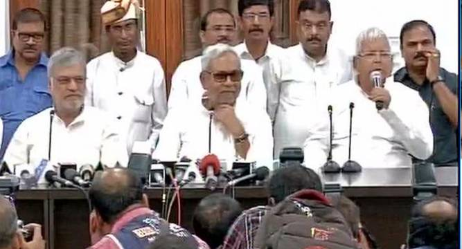 Bihar Polls Jdu, Rjd To Contest On 100 Seats Each, Cong On 40 Nitish Cm Candidate - News Nation-2437