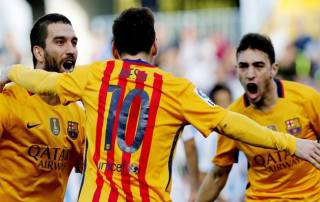 Lionel Messi to the rescue for under par Barcelona