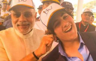 Awww! Akshay Kumar's son Aarav with PM Modi at Fleet Review