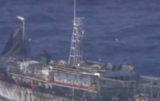 Argentina: Navy sinks Chinese boat fishing illegally