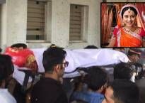 Television actors, family bid adieu to Pratyusha Banerjee