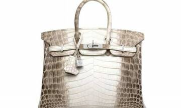 World's most expensive purse: Rare diamond-encrusted Hermes bag fetches record $300,000 at auction