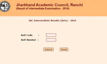 JAC 12th Result 2016: Jharkhand Board class XII Arts results declared, check @jac.nic.in