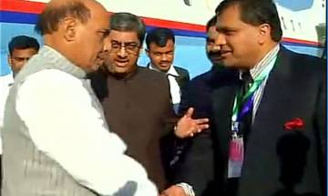 Rajnath arrives in Pak to participate in SAARC Conference amid protests