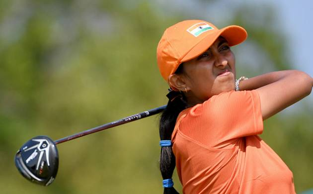 Aditi Ashok of India in action at Rio Olympics 2016 (Photo by Ross Kinnaird/Getty Images)