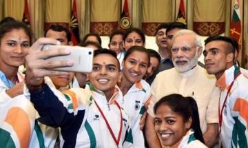 PM Narendra Modi congratulates Indian contingent at Rio Olympics 2016