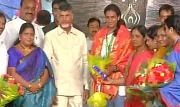 Watch: PV Sindhu plays badminton with Andhra Pradesh CM Chandrababu Naidu in Vijaywada