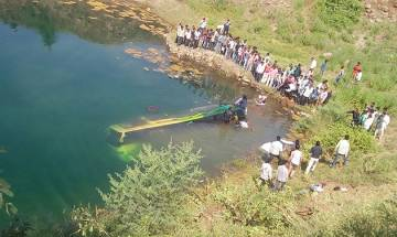 Watch: 14 killed, several injured after bus carrying 40 passengers falls in to gorge in Ratlam