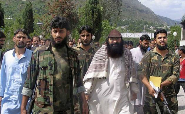 In this file photo, Hizbul Mujahideen's chief Syed Salahuddin is seen at an undisclosed location in Pakistan-occupied-Kashmir. Image source: Getty Images