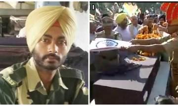 Martyr BSF Jawan Gurnam Singh cremated at his native village