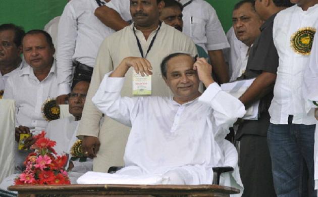 Odisha CM Naveen Patnaik shown black flags