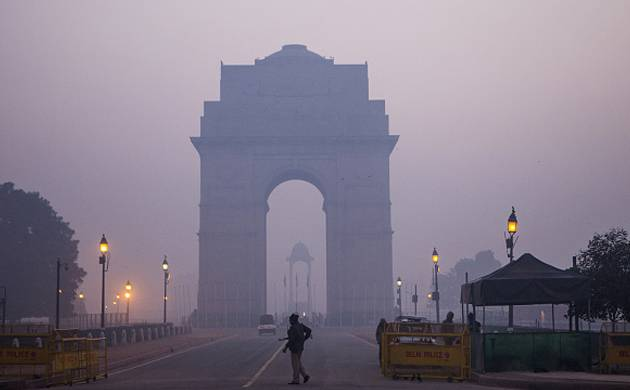 Smog mnace in Delhi (Pic: Getty)