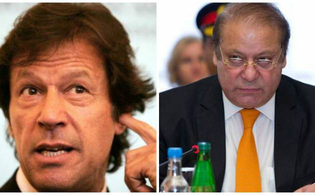 Cricketer-turned politician Imran Khan and Pak PM Nawaz Sharif (Getty Images)