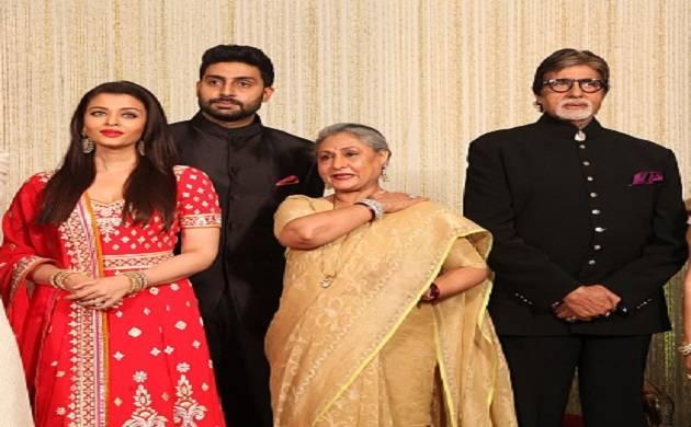 Abhishek Bachchan with father Amitabh, Mother Jaya and wife Aishwarya (source: Getty)
