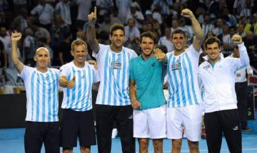Delbonis overpowers Karlovic in deciding rubber to hand Argentina maiden Davis Cup title