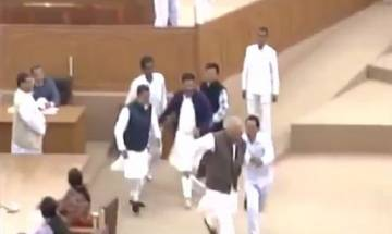 Watch | Ruckus at Tripura assembly: TMC MLA snatches speaker's mace in the house