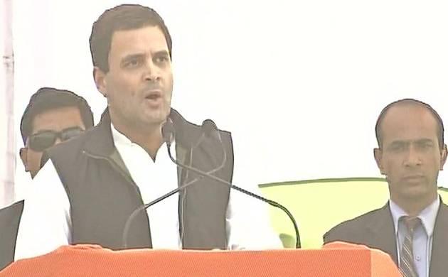 Rahul Gandhi addresses a rally in Uttarakhand (Pic: ANI)