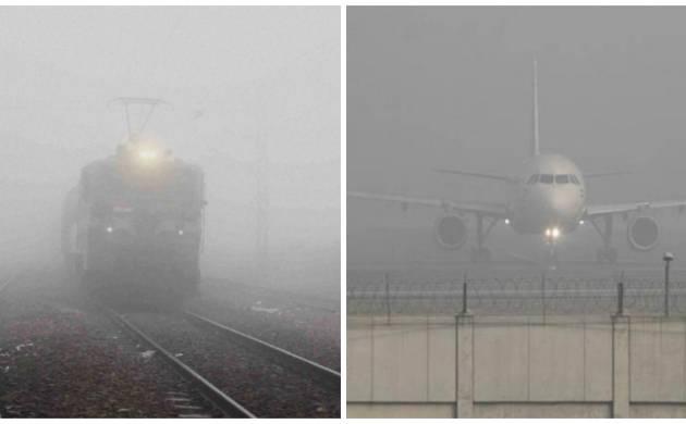 Train, flight services affected in Delhi due to dense fog