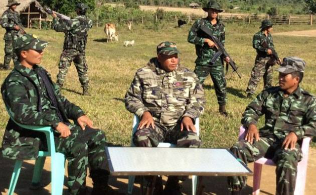 A file photo shows leaders of the rebel groups active in the northeastern region during a meeting at an undisclosed location.