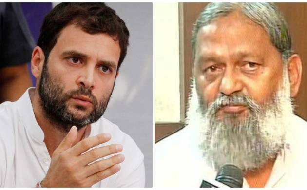 Row over Anil Vij's remarks on Modi and Gandhi: Hitler and Mussolini were also big brands, taunts Rahul Gandhi (File Pics)