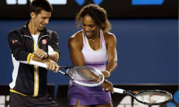 Novak Djokovic and Serena Williams launch Australian Open campaigns in style