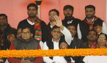 UP elections: Akhilesh Yadav shares stage with Congress in first joint campaign in state