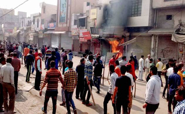 file pics of Jat agitation seeking reservation in education and government jobs (PTI)