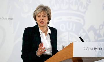 Theresa May drops in to meet Jaitley during UK visit, overstaying of 'certain individuals' discussed