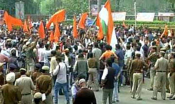 Ramjas row: ABVP takes out 'Save DU' march in North campus; heavy security deployed