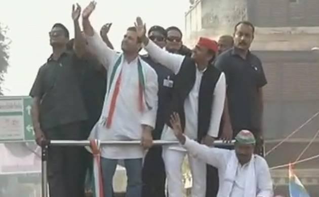 SP, BJP workers clash at Akhilesh-Rahul roadshow
