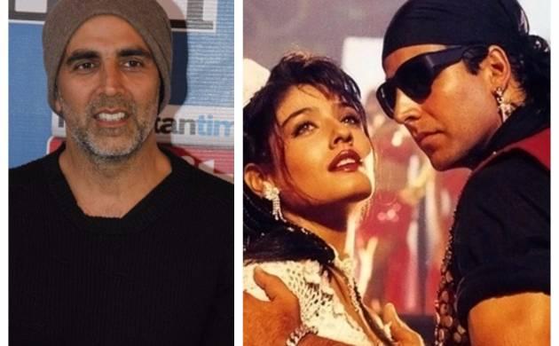 "Akshay Kumar with Ravina Tandon during ""Tu Cheez Badi Hai Mast Mast""- file photo"