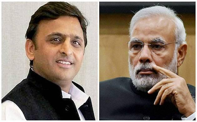 Akhilesh Yadav and Narendra Modi (File photo)