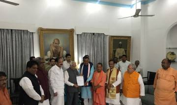 Yogi Adityanath meets UP Guv to stake claim at UP Govt; to be sworn in as CM at 2:15 PM on Sunday