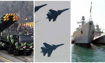 Joint doctrine for deeper synergies among army, navy and air force unveiled to deal with proxy war in Kashmir, Naxalism
