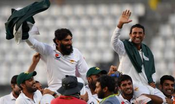 Misbah-ul-Haq and Younis Khan sign off in style as Pakistan script historic Test series win against West Indies