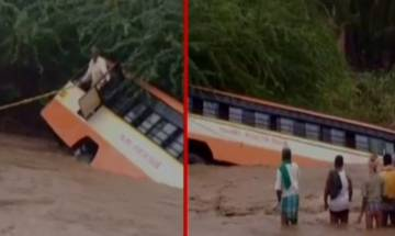 Bus falls into river in Karnataka's Gadag, locals rescue passengers with ropes