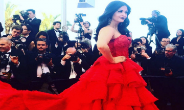 70th Cannes Film Festival: Aishwarya Rai looks stunning in her crimson red dress at the red carpet