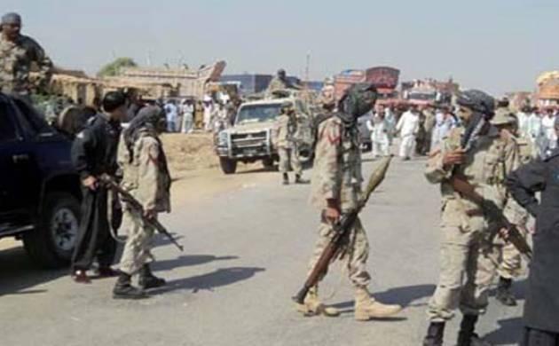 Pakistani security personnel patrol a street in restive Balochistan province. (File Photo)