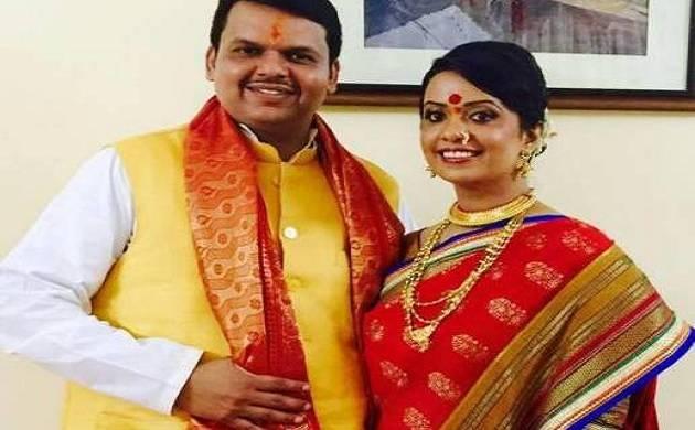 Amruta Fadnavis and Devendra Fadnavis (File photo)