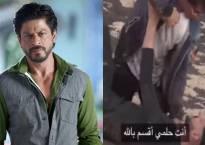 Watch: Shah Rukh Khan MANHANDLES Dubai TV show anchor