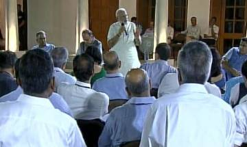 PM Modi asks top babus to identify concrete goals to be achieved by 2022, to focus on growth of 100 backward districts