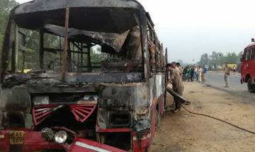 UP: 24 killed, several injured after bus catches fire in Bareilly; UP CM Adityanath, PM Modi announce ex-gratia