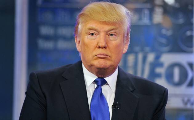 A file photo of US President Donald Trump.