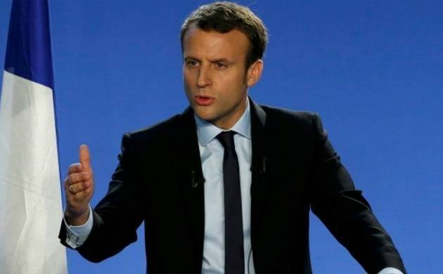 A file photo of French President Emmanuel Macron
