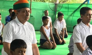 International Yoga Day: West Bengal performs Yoga with fervour, Union Minister Arjun Ram Meghwal participates in session