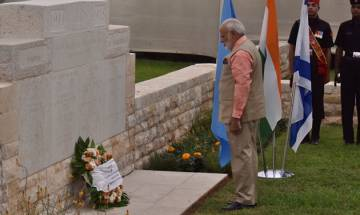 PM Modi pays homage to Indian World War I heroes in Haifa