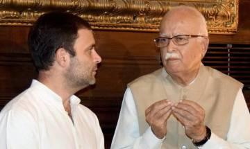 Rahul Gandhi, LK Advani talk in Lok Sabha as BJP, Congress row over issues