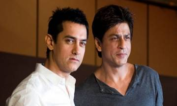 'Thanks Aamir & Kiran for giving me honour to stand in for you': SRK after attending Satyamev Jayate Water Cup Awards